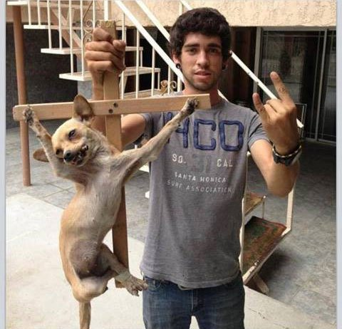 This so-called man is called Aaron Pino, he is 20 years old and from Tecate, Baja California.